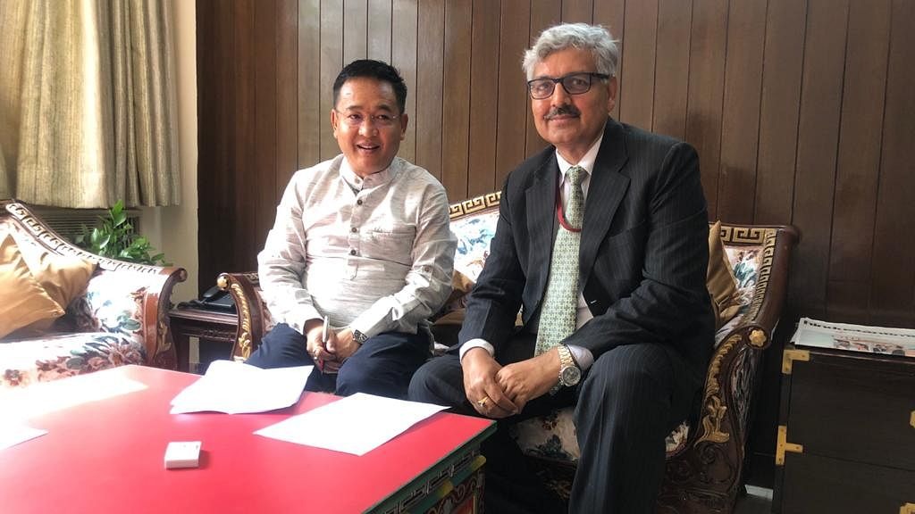 NHPC CMD meets Chief Minister of Sikkim