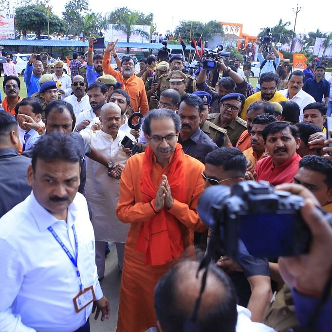 Uddhav Thackeray sings Hindutva in tune with MVA motto