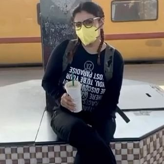 Watch: Raveena Tandon cleans train cabin, says 'better to be safe than sorry'