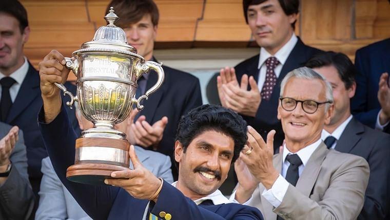 Ranveer Singh recreates Kapil Dev's iconic '83 world cup lifting moment