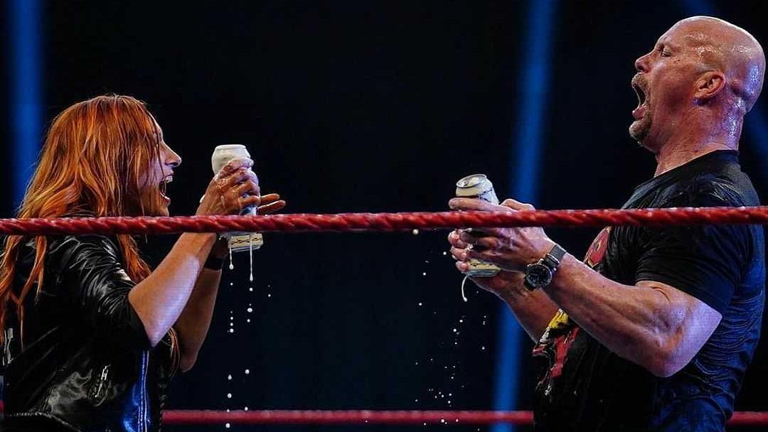 Stone Cold Steve Austin celebrates 3:16 Day with Becky Lynch