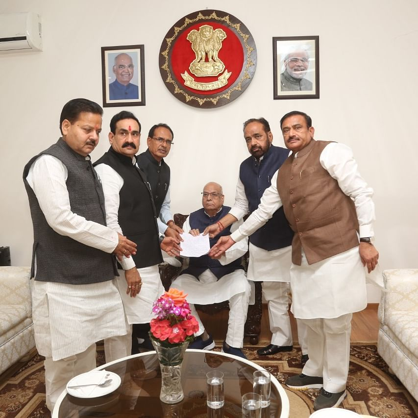 Madhya Pradesh: BJP leaders meet Governor, demand floor test before budget session