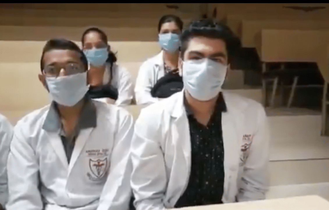 Even as the nation goes into lockdown, Rohtak medical college students say they are being forced to attend classes