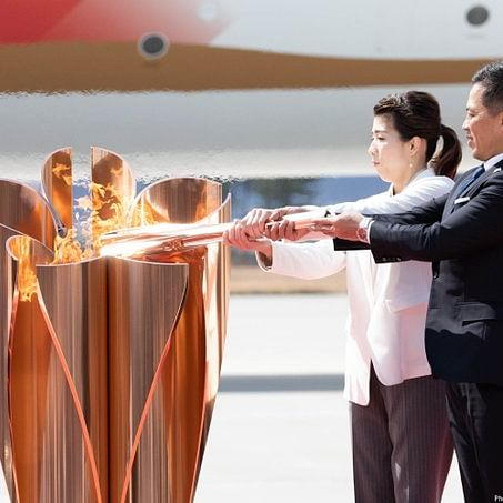 Tokyo Olympics 2020: Flame torch receives muted reception amid coronavirus scare