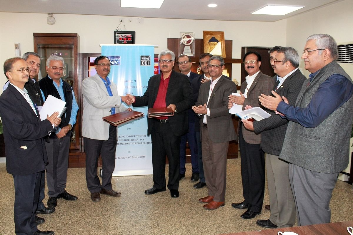 NHPC signs pact with CCI to meet Dibang project's cement requirements