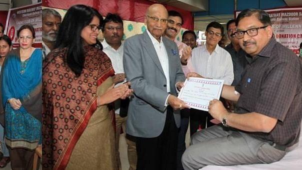 W Rly Mazdoor Sangh, Jagjivan Ram Hospital conduct blood donation drive at Churchgate Station