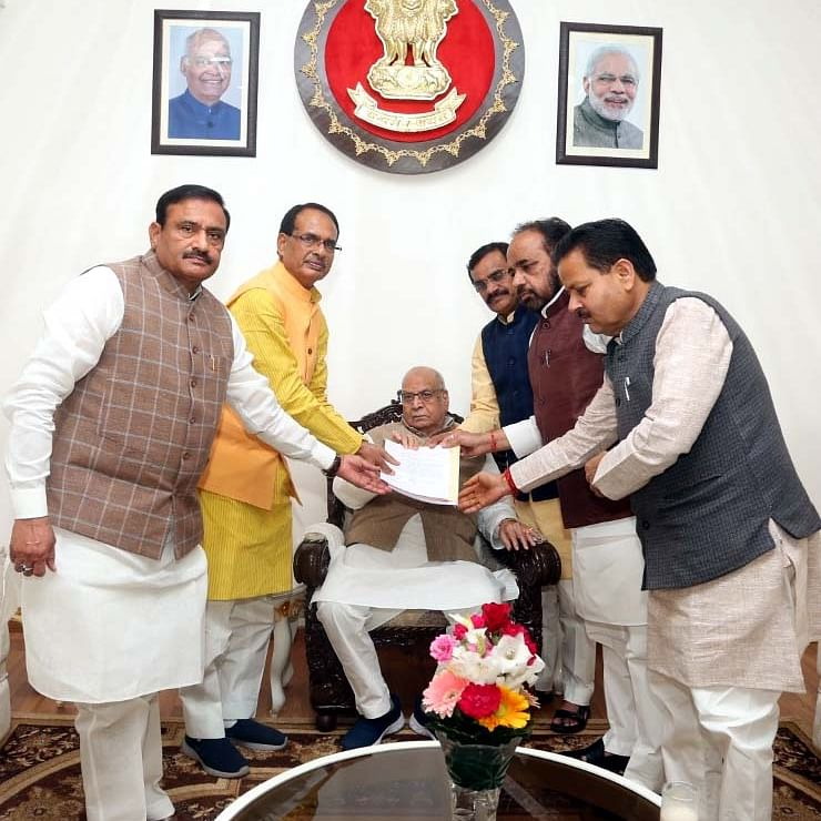 Madhya Pradesh: BJP leaders meet Governor Lalji Tandon over political appointments amid government crisis