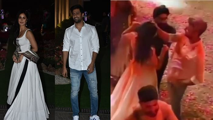 Watch Video: Vicky Kaushal celebrates his first Holi with rumoured girlfriend Katrina Kaif at Isha Ambani's party