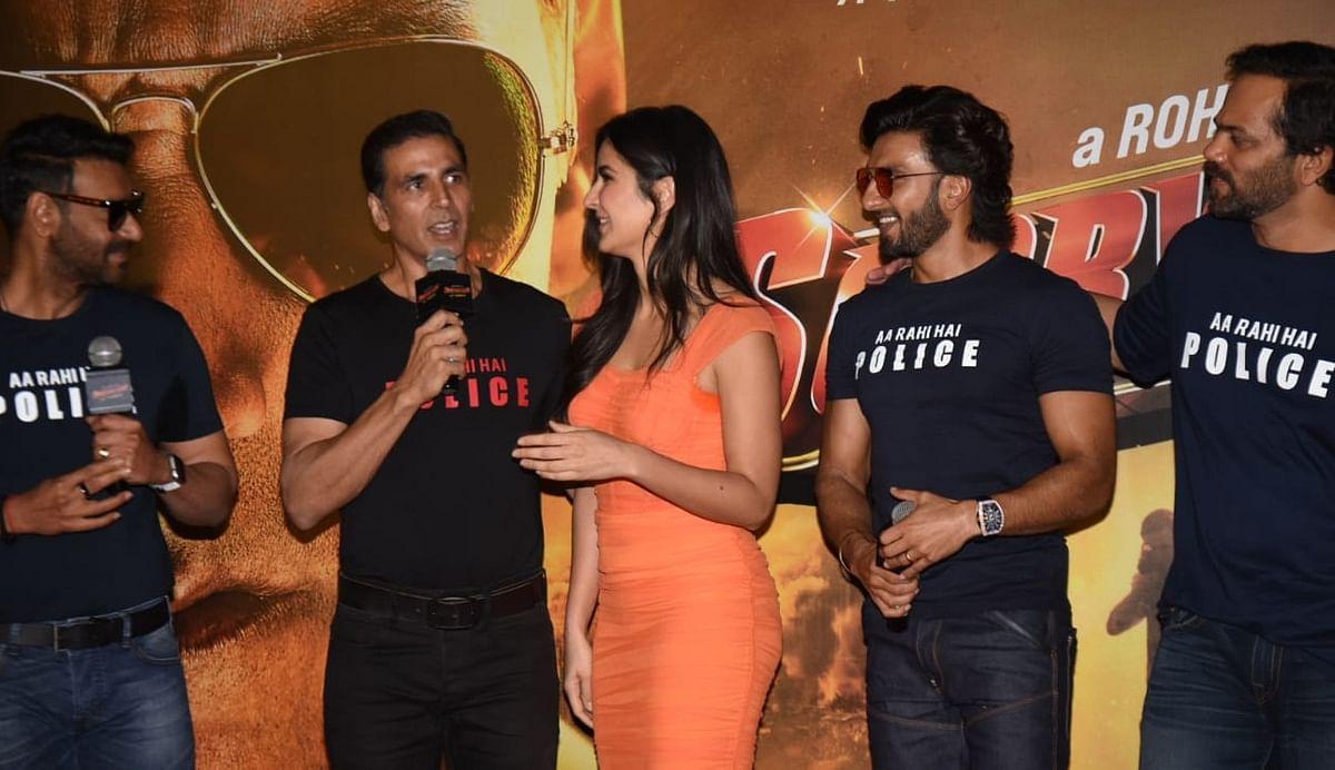 Akshay, Ranveer, Katrina, Ajay make for a happy bunch at 'Sooryavanshi' trailer launch; see pics