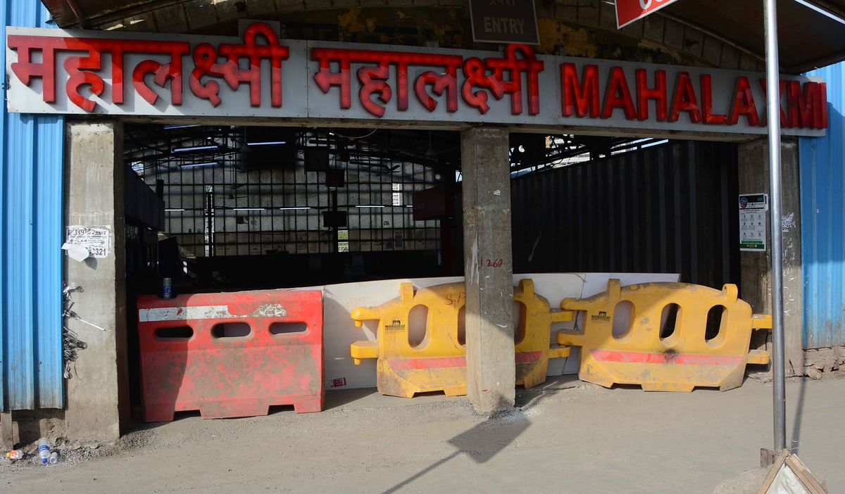 Mahalaxmi Railway Station on Western Line shut down on Monday.