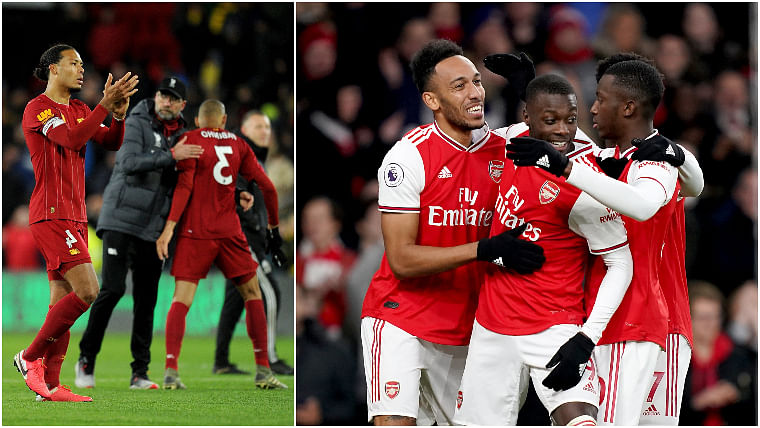 Arsenal has hilarious reaction to Watford ending Liverpool's unbeaten run
