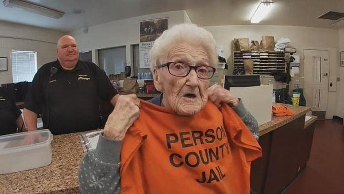 US woman goes to jail to tick bucket list for 100th birthday