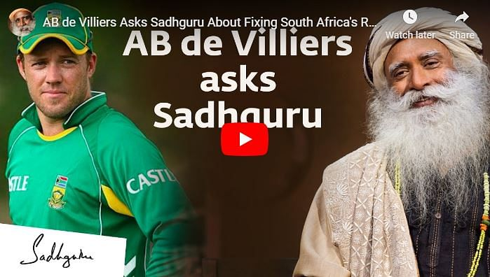 ABD and Sadhguru