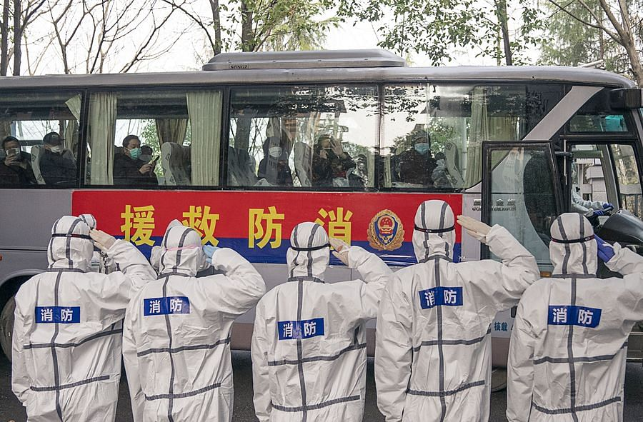 Watch: Wuhan's docs take their mask off after closing last temporary hospital for corona outbreak