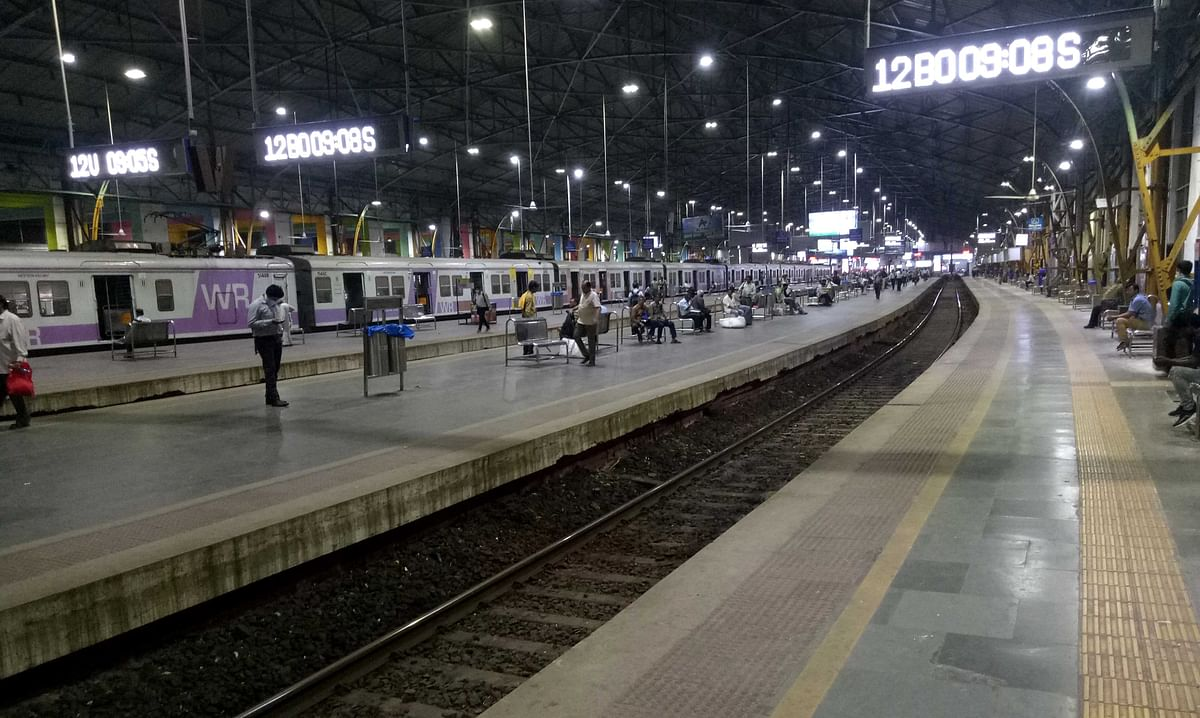 A rare scene at Mumbai's Churchgate Railway station at 8pm there is very less crowd.