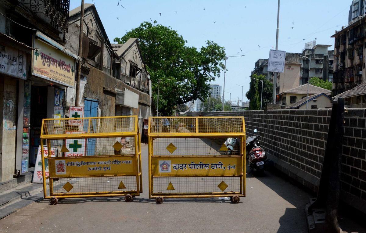 Prabhadevi Railway station area sealed.