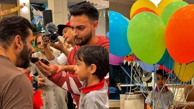 Ahil feeds mamu Salman Khan cake on his 4th birthday amid quarantine