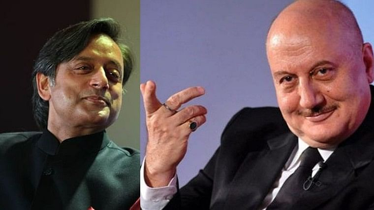 'May your acting career continue to flourish & leave less time for politics!': Shashi Tharoor wishes Anupam Kher on  birthday