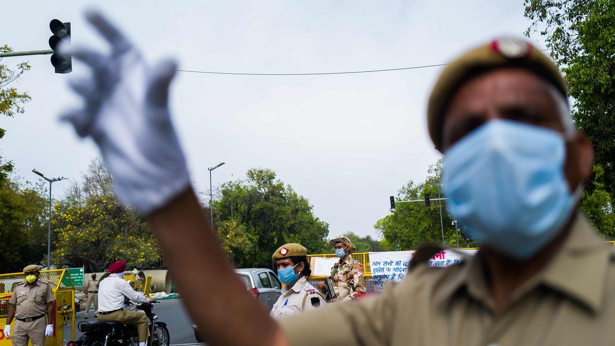 A cop in Delhi