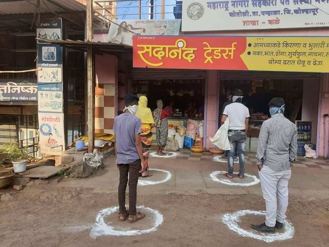 mumbai  circles  squares in the market to ensure safe