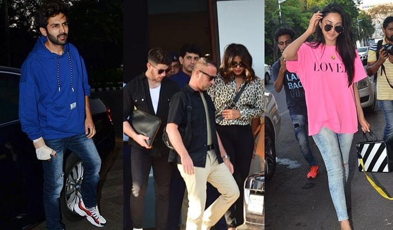 In Pics: Priyanka Chopra, Nick Jonas, Kiara Advani and Kartik Aaryan snapped at the airport