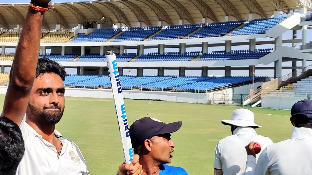 Jaydev Unadkat leads Saurashtra to their maiden Ranji Trophy cup at Saurashtra Cricket Association stadium.