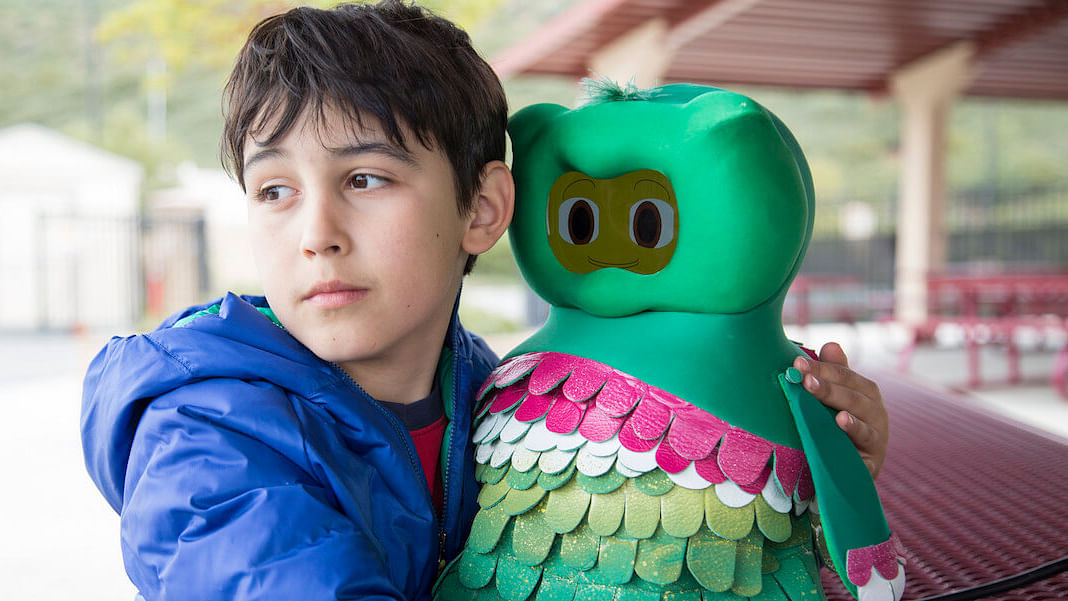 Kiwi the robot, to aid autistic kid in learning
