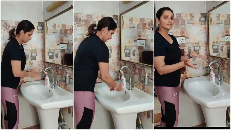 Coronavirus: Sania Mirza takes hand-wash challenge, asks Hardik Pandya and others to take it forward