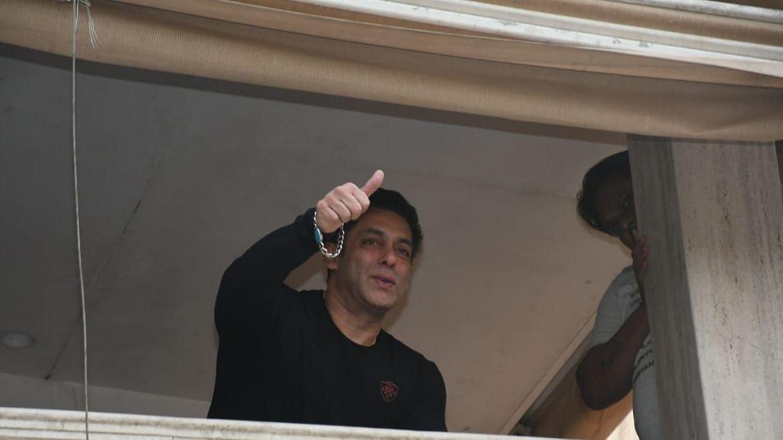 Salman Khan at Galaxy Apartments