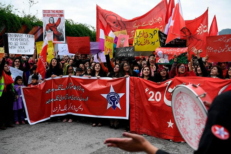 Islamabad's 'Aurat March': Group of men pelted stones and attacked women participants