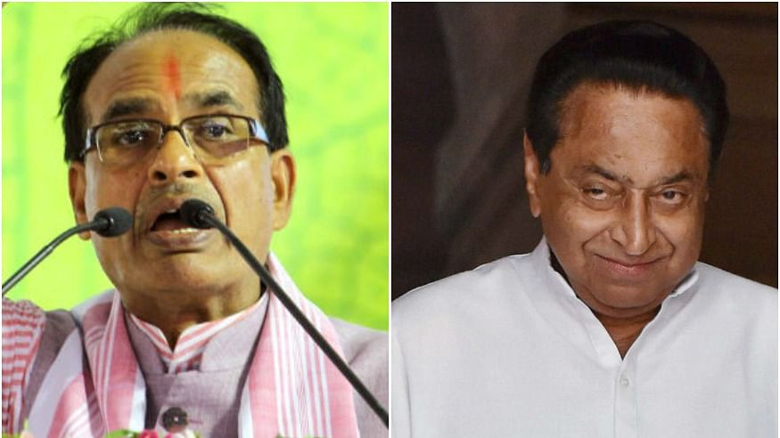 Shivraj Singh Chouhan left and CM Kamal Nath