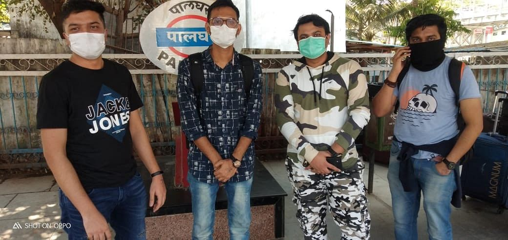 Four passengers were deboarded from coach 12216 Garib Rath on March 18 at Palghar station when TTEs & co passengers saw a stamp on their hands. They had flown down from Germany & were headed to Surat. They were taken to the Govt. Hospital, Palghar.
