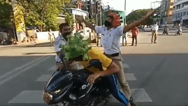 Watch: Bengaluru Police is way too extra while demonstrating how coronavirus spreads
