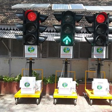 Coronavirus in Mumbai: Traffic cops unveil portable signals to beat congestion