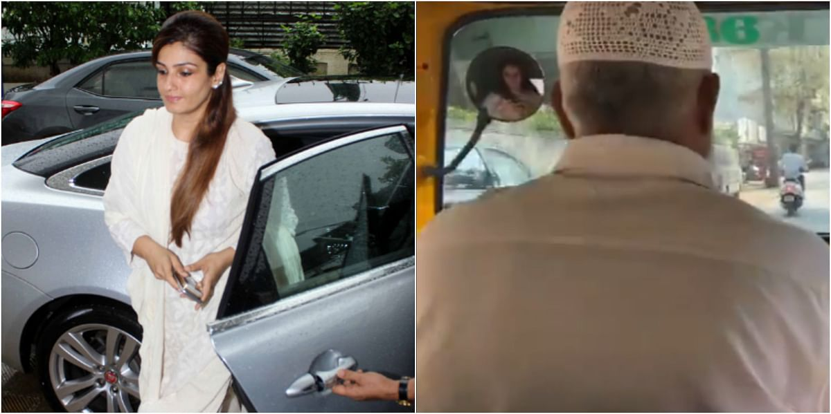 Raveena Tandon ditches swanky car, takes auto to niece's mehendi ceremony