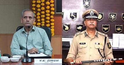 VK Singh (left) and Vivek Johri