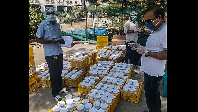 Kitchens that cooked mid-day meals, now cook for healthcare workers and the poor