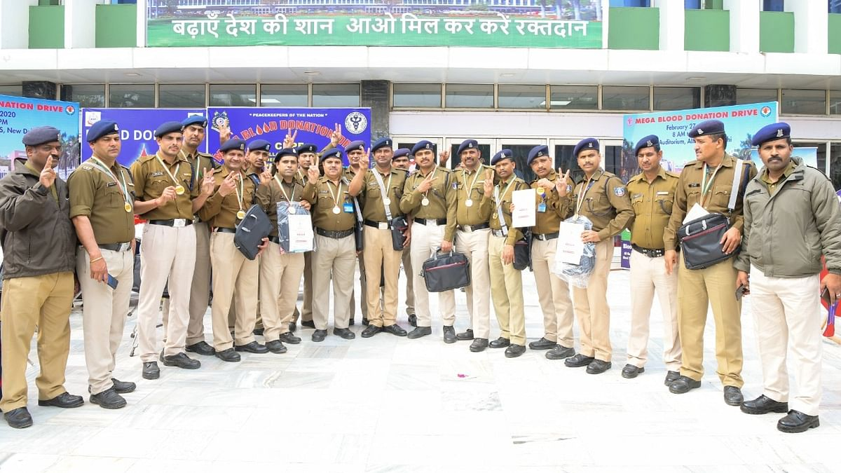Blood Donation by CRPF
