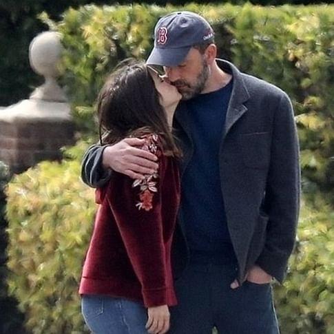 Ben Affleck and Ana de Armas lock lips while walking their dogs amid coronavirus lockdown