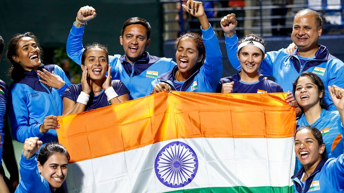 Indian women's tennis team make history with first Fed Cup play-offs