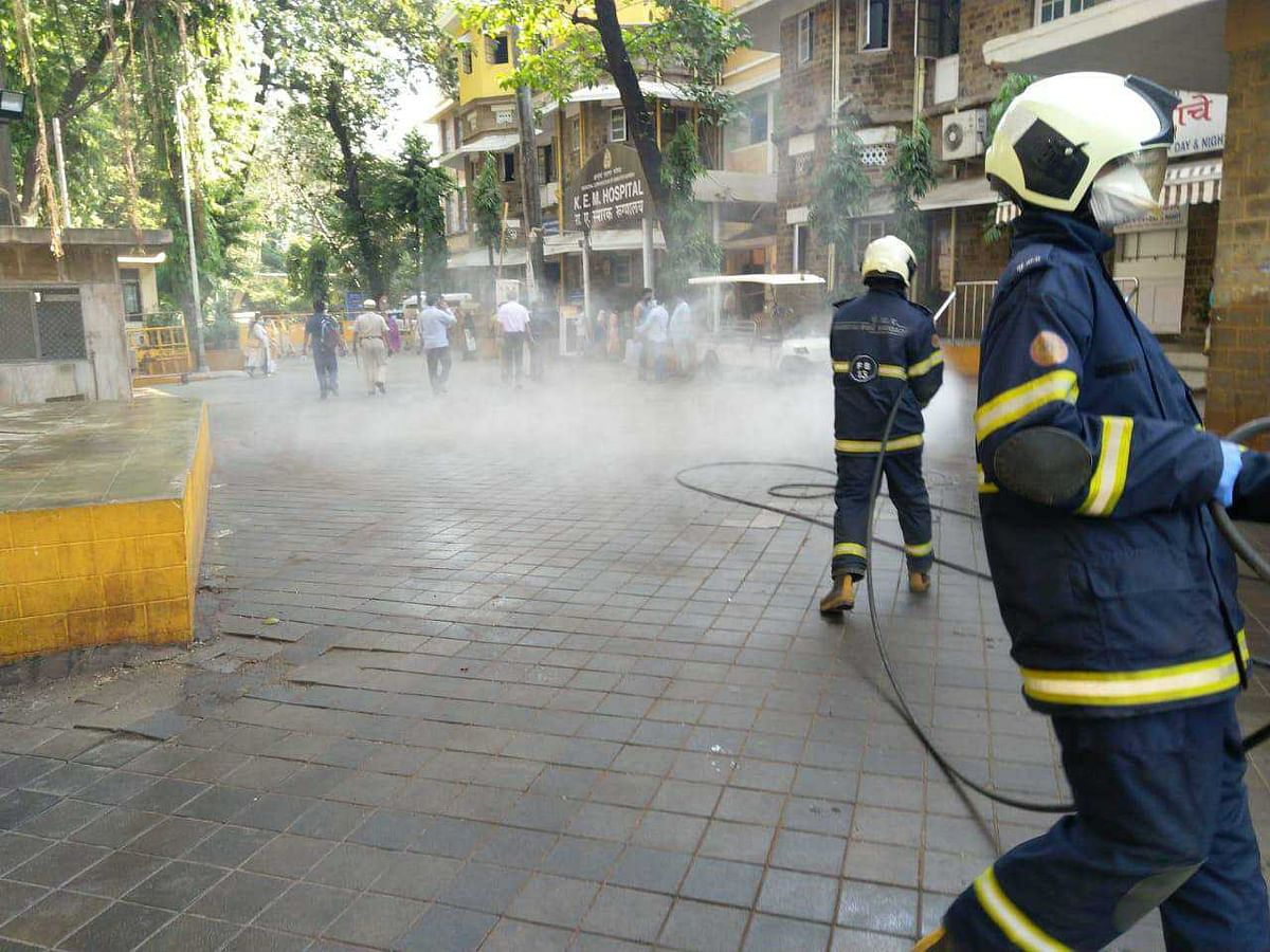In Pics: Mumbai Fire Brigade begins sanitization of KEM hospital amid coronavirus outbreak
