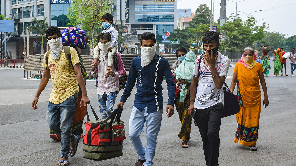 Migrant workers who left for their native places, return back to Mumbai for employment opportunities