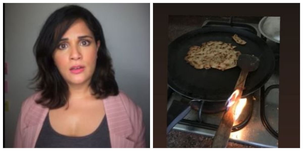 Quarantine Diaries: Richa Chadha's fiery cooking burns wooden ladle