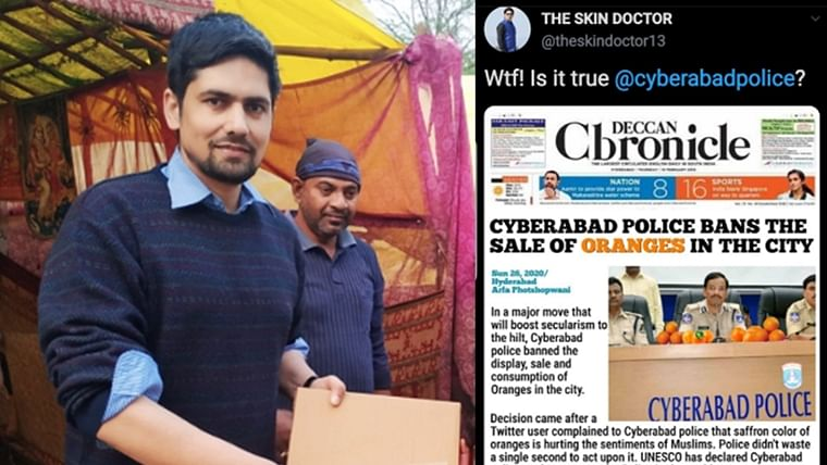'Retired Major' and RW Twitter user 'Skin Doctor' booked for 'satire' on oranges by Cyberabad Police