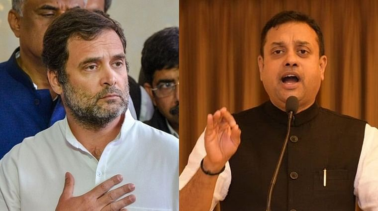 Why did Sambit Patra label Rahul Gandhi as Rahul Lahori?