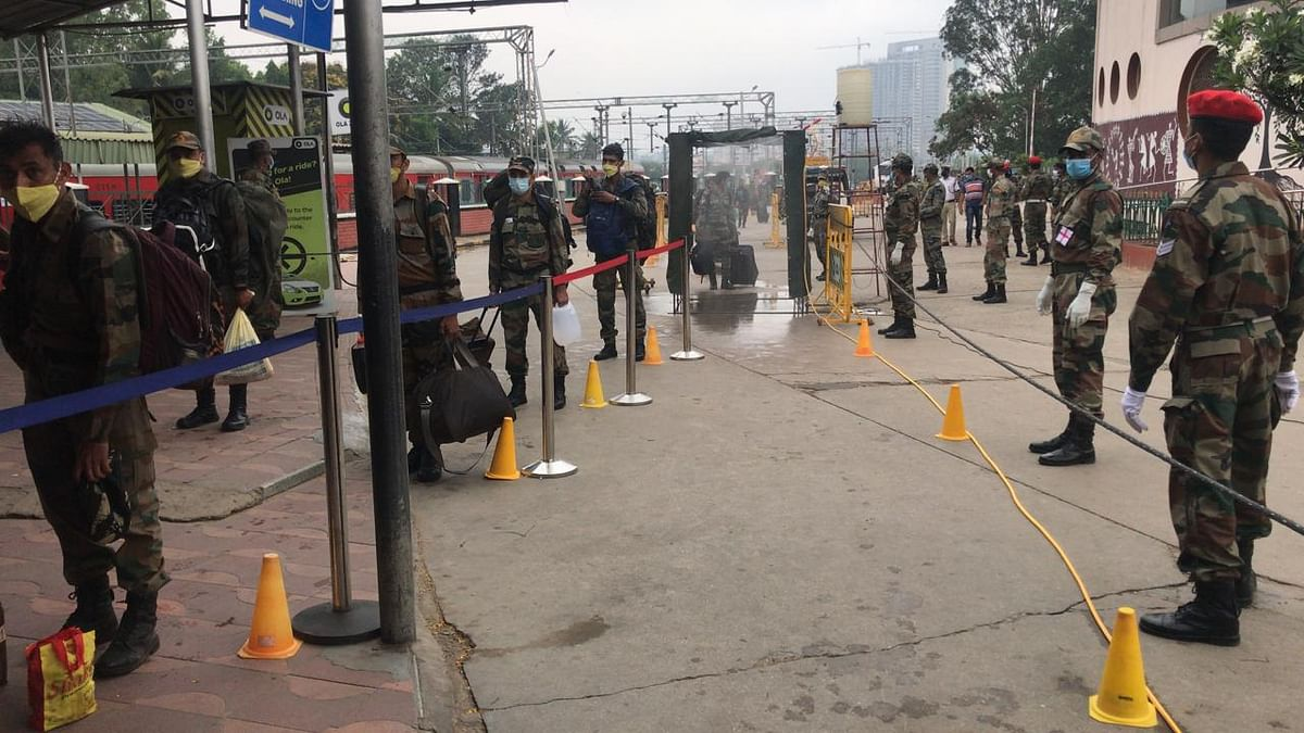 Special train moves 950 Army personnel from Bangalore, Belgaum and Secundrabad to operational areas in North India