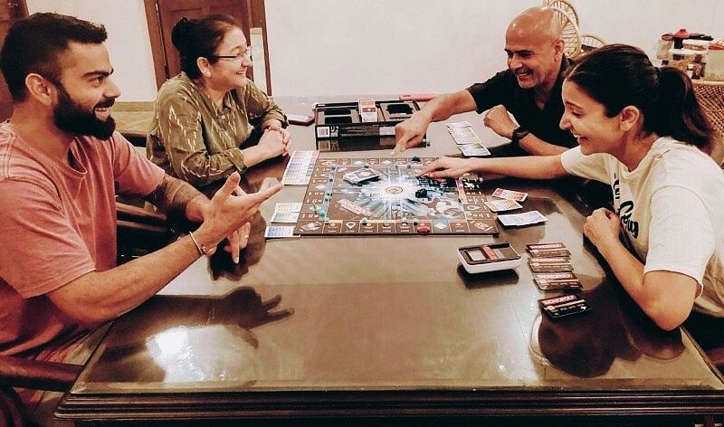'Aggressive' Virat Kohli enjoys a competitive monopoly game with wife Anushka Sharma and family