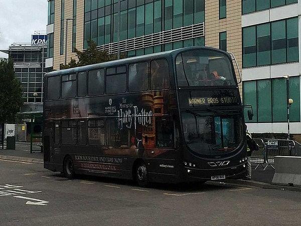 Harry Potter studio tour buses