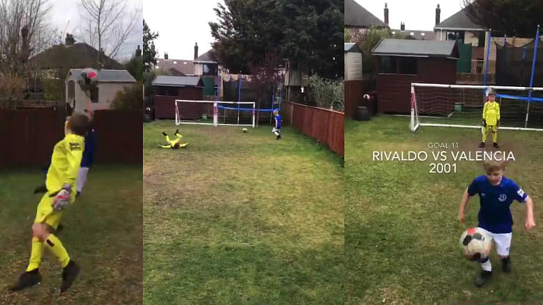 This adorable kid recreated iconic goals and it is giving us happiness in these dark times