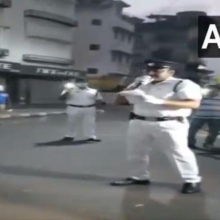 Kolkata Police sing song to create awareness about coronavirus